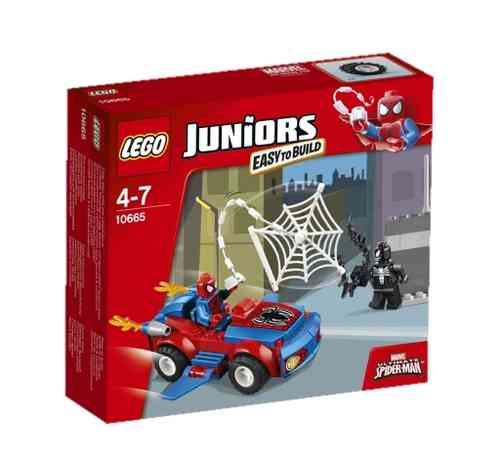 LEGO Juniors 10665 Spider-Man: Spider-Car Verfolgung