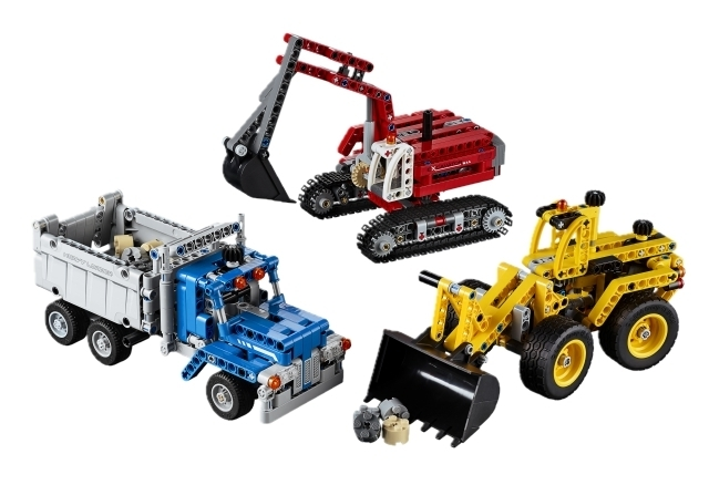 lego technic 42023 baustellen set spielzeug. Black Bedroom Furniture Sets. Home Design Ideas