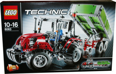 lego technic 8063 traktor mit anh nger spielzeug berlin teltow. Black Bedroom Furniture Sets. Home Design Ideas