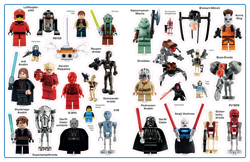 lego star wars minifiguren das gro e stickerbuch miwarz. Black Bedroom Furniture Sets. Home Design Ideas