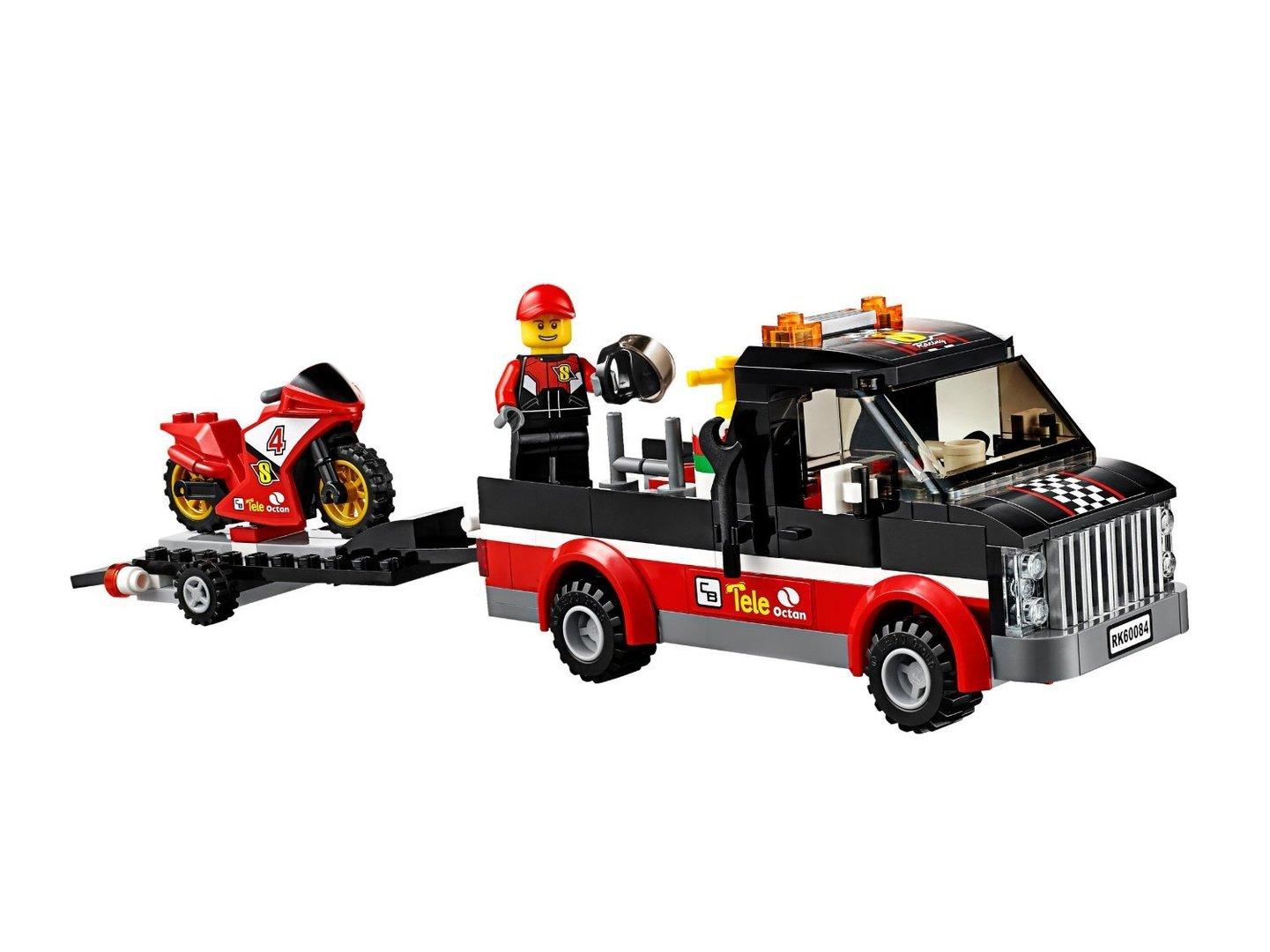 günstig kaufen 60084 LEGO City Rennmotorrad-Transporter