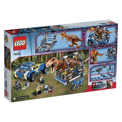 lego jurassic world 75918 auf der f hrte des t rex g nstig. Black Bedroom Furniture Sets. Home Design Ideas