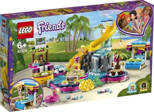 LEGO 41374 Friends Andreas Pool-Party