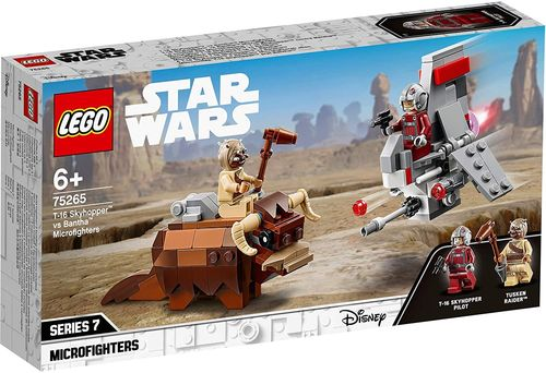 LEGO Star Wars 75265 T-16 Skyhopper vs Bantha