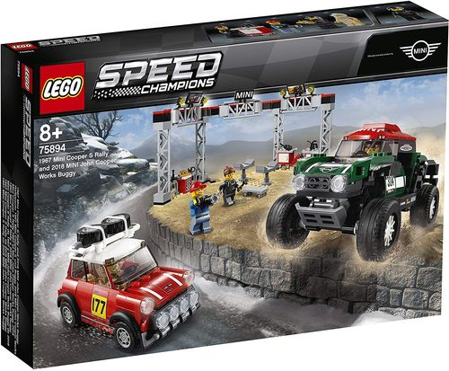 LEGO Speed Champions 75894 1967 Mini Cooper S und 2018 Buggy Mini John Cooper Works